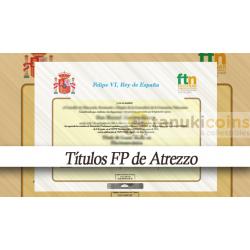 Titulo - Diploma FP de Adorno 1 cara