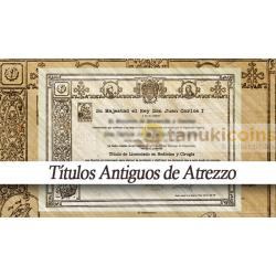 Titulo - Diploma Universitario Antiguo de Adorno 1 cara