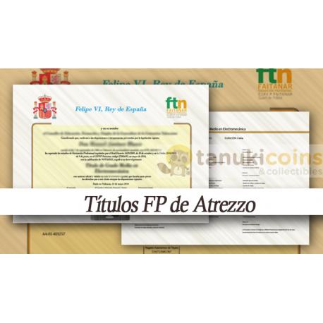 Titulo - Diploma FP de Adorno 2 caras