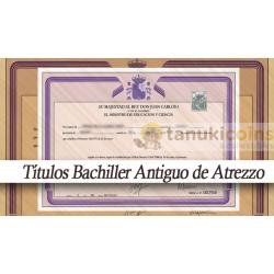 Titulo Bachiller/Bachillerato adorno