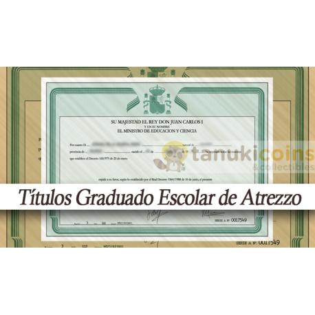 Titulo Graduado escolar adorno